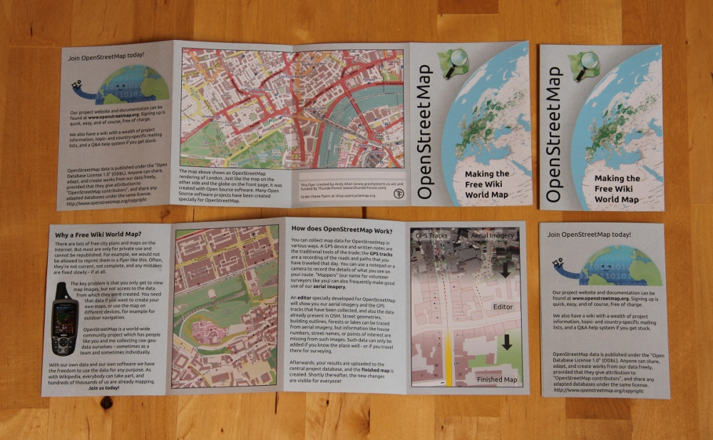 New OpenStreetMap Promotional Leaflets | Gravitystorm Blog